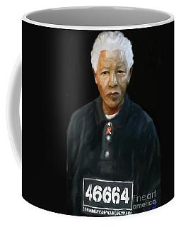 Coffee Mug featuring the digital art Mandela by Vannetta Ferguson