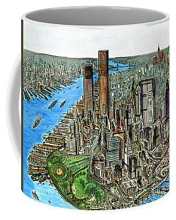 New York Downtown Manhattan 1972 Coffee Mug