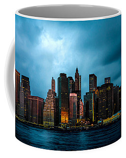 Coffee Mug featuring the photograph Manhattan At Dawn by Chris Lord