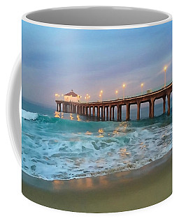 Manhattan Beach Reflections Coffee Mug
