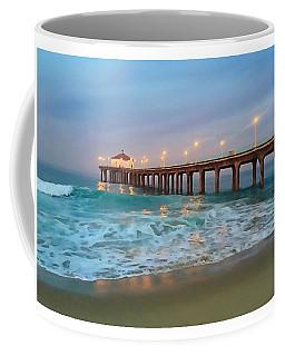 Manhattan Beach Reflections Coffee Mug