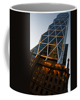 Manhattan Blues And Oranges Coffee Mug by Georgia Mizuleva