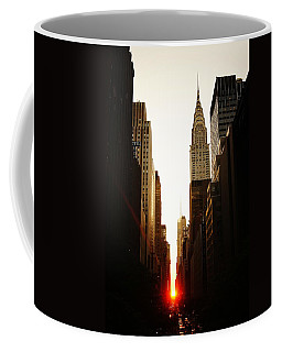 Manhattanhenge Sunset And The Chrysler Building  Coffee Mug