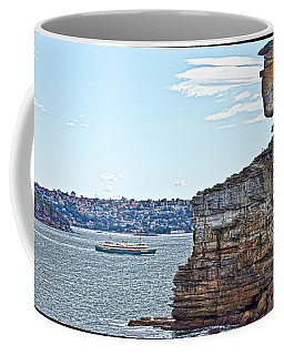Coffee Mug featuring the photograph Manly Ferry Passing By  by Miroslava Jurcik