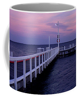 Manns Beach Jetty Coffee Mug by Evelyn Tambour