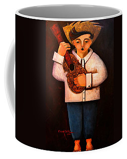 Coffee Mug featuring the painting Manolito El Cuatrista 1942 by Oscar Ortiz