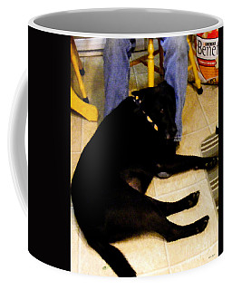 Coffee Mug featuring the photograph Man's Best Friend by Barbara Griffin