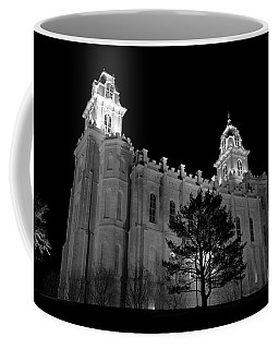 Manti Temple Black And White Coffee Mug