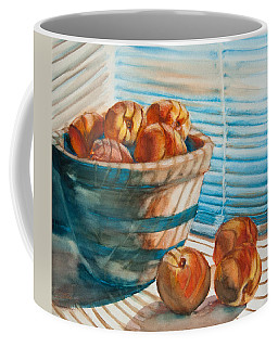 Many Blind Peaches Coffee Mug by Jani Freimann