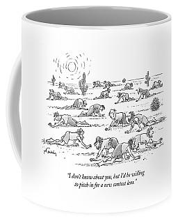 Many People Crawl Lost In A Desert Coffee Mug