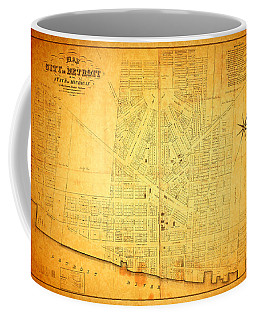 Map Of Detroit Michigan C 1835 Coffee Mug