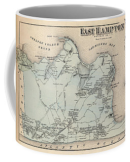 Map Of East Hampton 1873 Coffee Mug