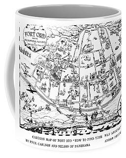 Map Of Fort Ord Army Base Monterey California Circa 1950 Coffee Mug