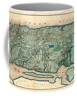 Map Of Manhattan Coffee Mug