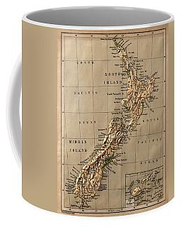 Map Of New Zealand 1880 Coffee Mug