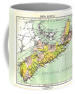 map of Nova Scotia - 1878 Coffee Mug