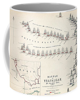 Map Of The Battle Of Trafalgar Coffee Mug