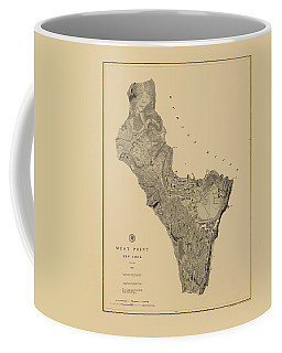 Map Of West Point 1883 Coffee Mug
