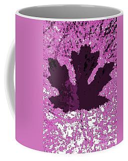Maple Leaf Purple Pop Poster Hues  Coffee Mug by R Muirhead Art