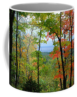 Coffee Mug featuring the photograph Maples Against Lake Superior - Tettegouche State Park by Cascade Colors
