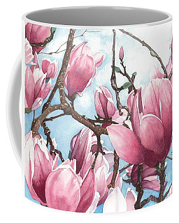 Coffee Mug featuring the painting March Magnolia by Barbara Jewell