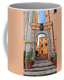 Marciana - Ancient Gate Coffee Mug by Antonio Scarpi