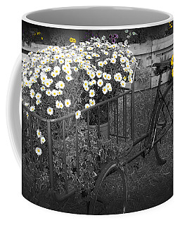 Marguerites And Bicycle Coffee Mug