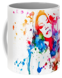 Mariah Carey Watercolor Paint Splatter Coffee Mug