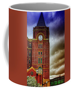Coffee Mug featuring the photograph Marietta Clock Tower by Dennis Baswell