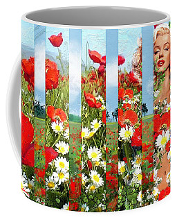 Marilyn In Poppies 1 Coffee Mug