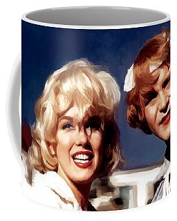 Marilyn Monroe And Jack Lemon Portrait Coffee Mug