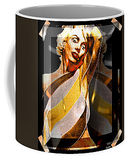 Coffee Mug featuring the digital art Marilyn Monroe by Daniel Janda