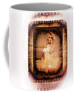 Coffee Mug featuring the photograph Marilyn Monroe Film by Ericamaxine Price