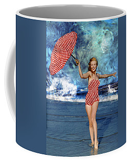Coffee Mug featuring the photograph Marilyn Monroe - On The Beach by Ericamaxine Price