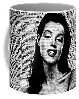Marilyn Monroe On Vintage Newspaper Coffee Mug