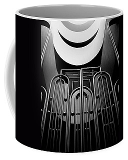 Coffee Mug featuring the photograph Marin County Government Complex Gate by Jeff Brunton