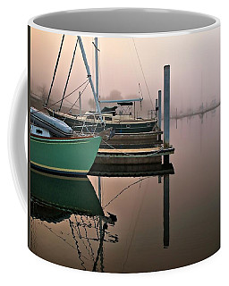 Coffee Mug featuring the photograph Marina Morning by Laura Ragland