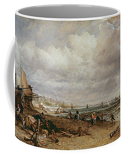 Marine Parade And Old Chain Pier, 1827 Oil On Canvas Coffee Mug