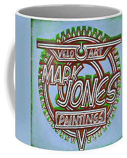 Mark Jones Velo Art Painting Blue Coffee Mug