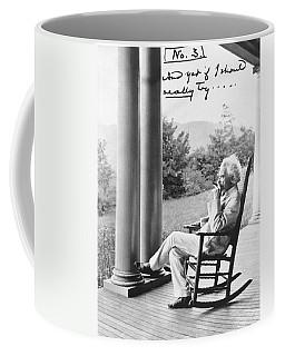 Mark Twain On A Porch Coffee Mug