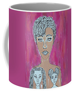 Mother And Daughters Painting And Drawing Coffee Mug