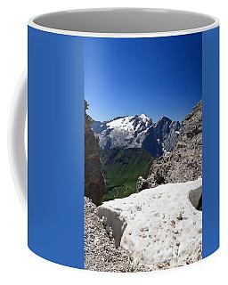 Coffee Mug featuring the photograph Marmolada From Saas Pordoi by Antonio Scarpi