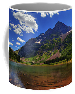 Coffee Mug featuring the photograph Maroon Bells by Alan Vance Ley