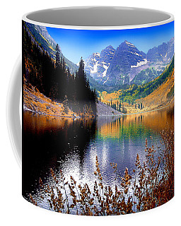 Maroon Bells At Maroon Lake Coffee Mug