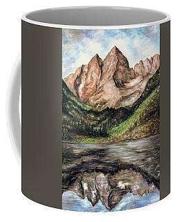 Maroon Bells Colorado - Landscape Painting Coffee Mug