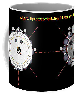 Mars Spaceship Hermes1 Front And Rear Coffee Mug