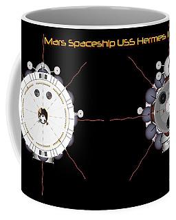 Mars Spaceship Hermes1 Front And Rear Coffee Mug by David Robinson