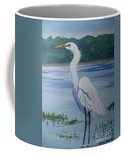 Marsh Land Egret Coffee Mug