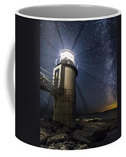 Marshall Lighthouse And The Night Sky Coffee Mug