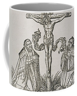 Martin Luther And Frederick IIi Of Saxony Kneeling Before Christ On The Cross Coffee Mug